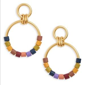 Madewell Rainbow Beaded Hoop Earring new w/o tags